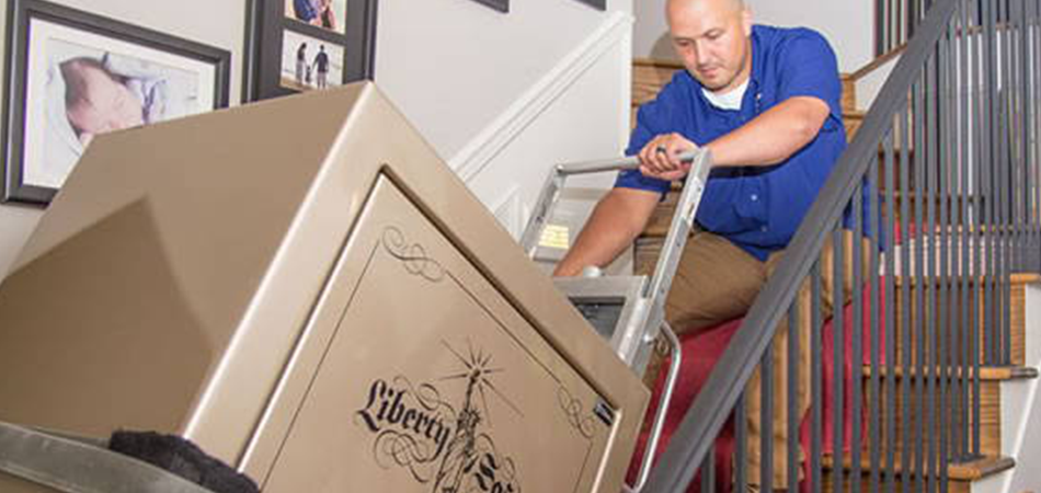 How to Move a Gun Safe Down Stairs?