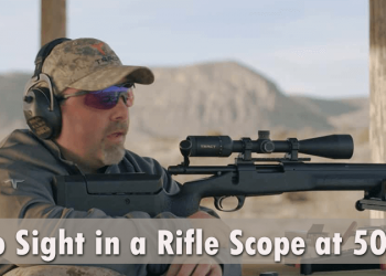 How to Sight in a Rifle Scope at 50 Yards